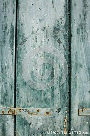 Blue grunge shutter