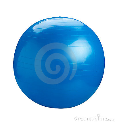 Free Blue Gym Ball Stock Photo - 20147740