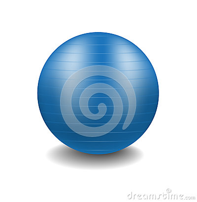 Blue gym ball