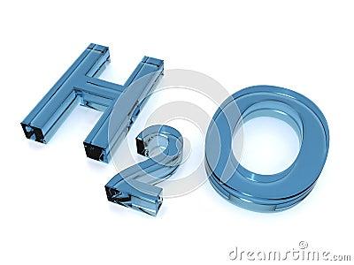 Blue H2O sign