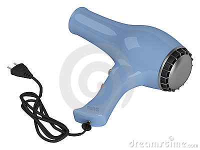 Blue hair dryer