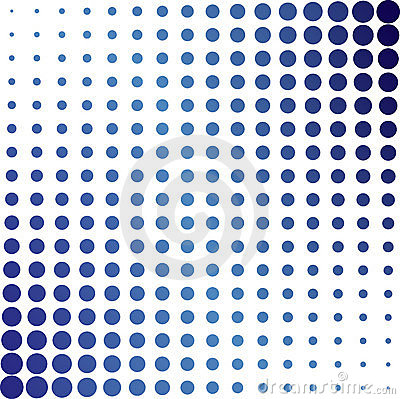 Blue Halftone Dots