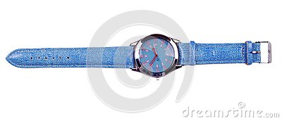 Blue hand watch