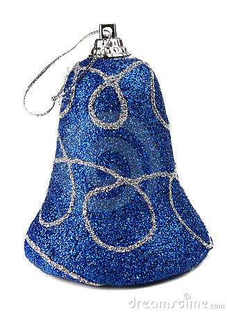 Blue handbell decoration for a new-year tree