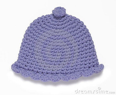 Blue handmade hat