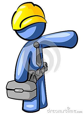 Blue handyman