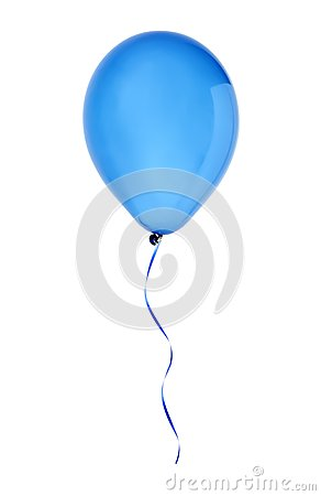 Free Blue Happy Air Flying Balloon Isolated On White Royalty Free Stock Photography - 38053547