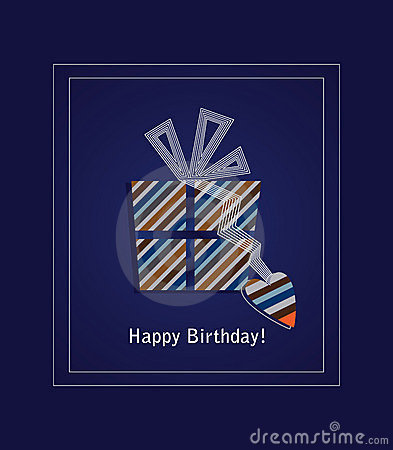 Free Blue Happy Birthday Card 2 Stock Images - 12042404