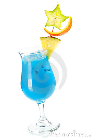 Free Blue Hawaii Tropical Cocktail Royalty Free Stock Photography - 12340177