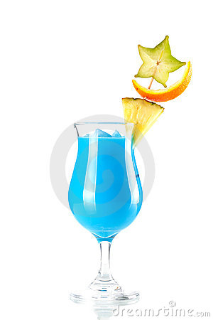 Free Blue Hawaii Tropical Cocktail Royalty Free Stock Photos - 12575298