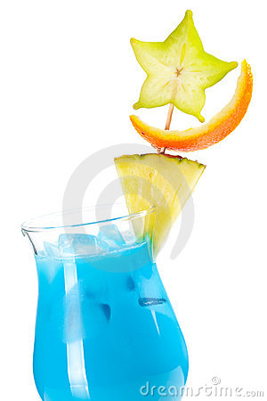 Free Blue Hawaii Tropical Cocktail Stock Photos - 15035703