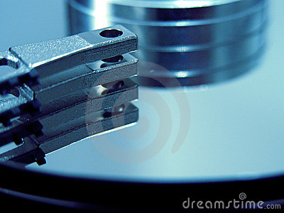 Blue HDD Stock Photo
