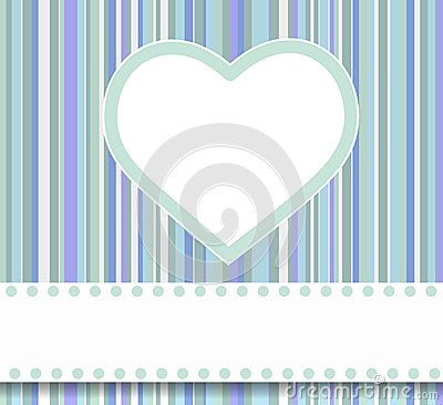 Blue heart card