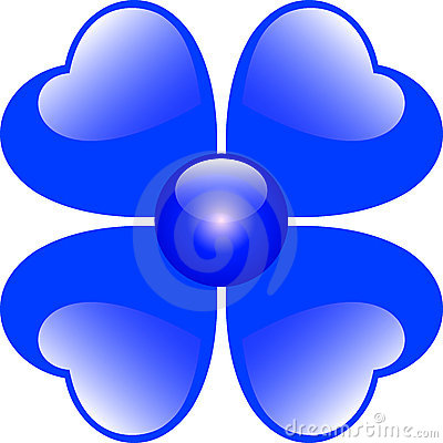 Blue Hearts Flower
