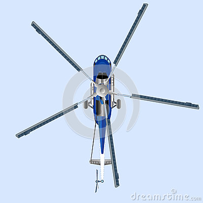 Free Blue Helicopter MI 8 Stock Image - 76891761