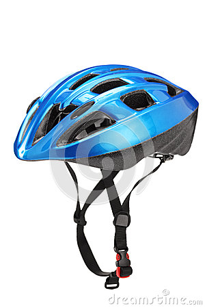 Blue helmet for byciclists