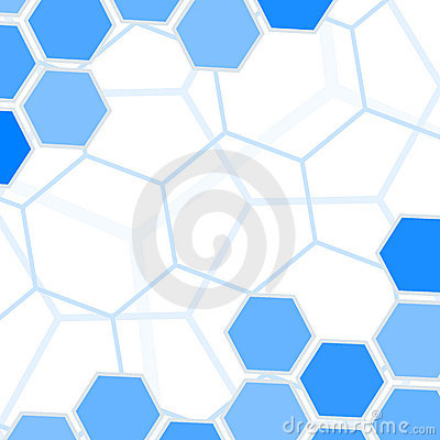 Blue hexagons background