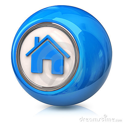Blue Home Icon Stock Photos - Image: 21645703