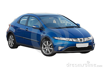 Blue honda civic 5d