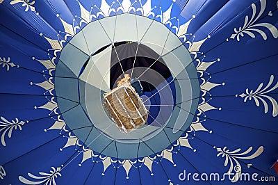 Blue hot air ballon