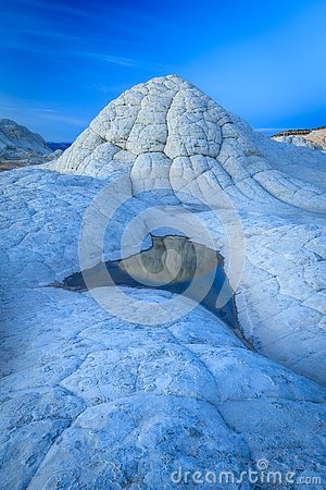 Free Blue Hour In The Utah Desert, USA. Royalty Free Stock Photos - 130633698