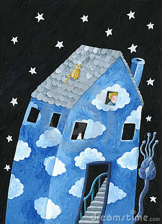 Free Blue House Stock Photo - 12619240