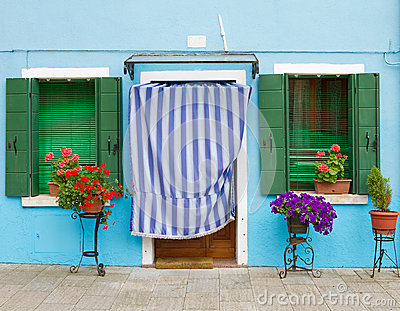 Blue house on Burano.