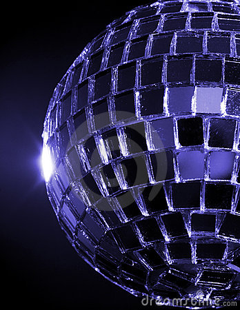 Blue Hued Disco Ball