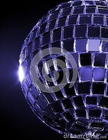 Blue Hued Disco Ball