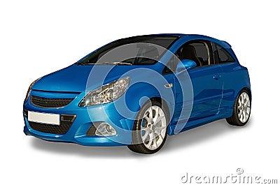 Blue Hybrid Car