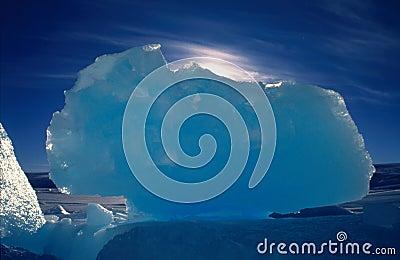 Blue Ice Block