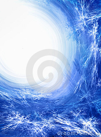 Blue ice fractal background