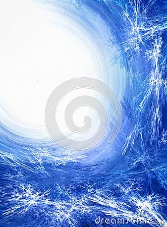 Blue ice fractal background