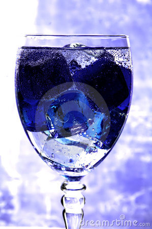 Blue Ice in a Glass