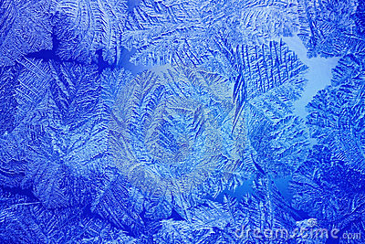 Blue Ice patterns made by the frost