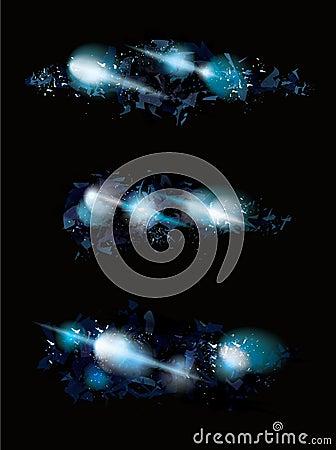 Free Blue Ice Shattered Effect Design Set Stock Images - 41106824