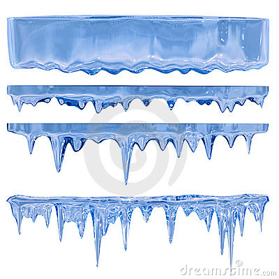 Free Blue Icicles Stock Photos - 18219743