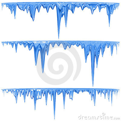 Free Blue Icicles Royalty Free Stock Photography - 18958617