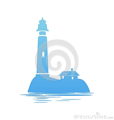 Free Blue Icon Of Lighthouse Stock Photography - 48714752
