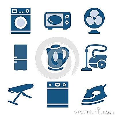 Free Blue Icon Set 18 Stock Photography - 8629542