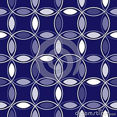 Blue Interlocking Circles