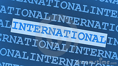 Blue international background