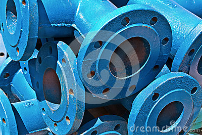 Blue iron pipes