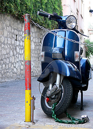Blue Italian Scooter