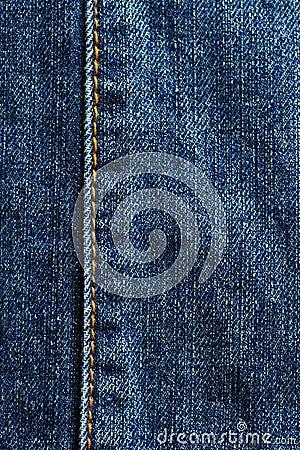 Blue jean detail