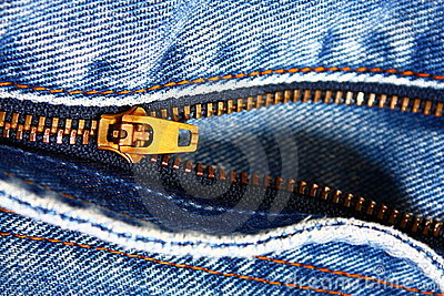 Blue Jean Zipper