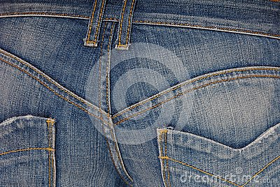 Blue jeans  on buttocks