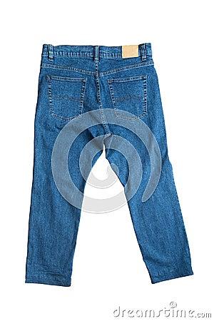 Blue jeans close up
