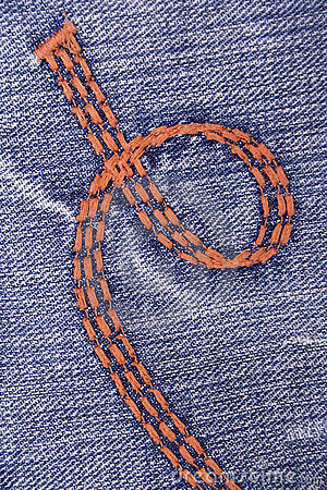 Blue jeans with embroidery