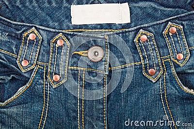 Blue jeans front